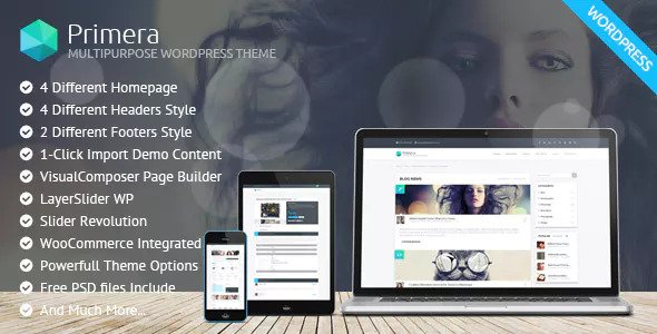 Primera v1.1.0 — Corporate Multipurpose WordPress Theme