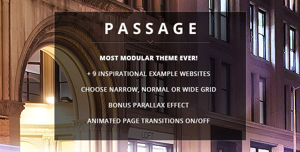 Passage v2.0.0 — Responsive Retina Multi-Purpose Theme