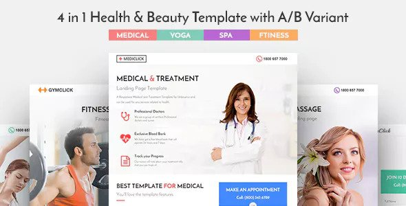 Mediclick v1.0.1 — Medical Landing Page WordPress Theme