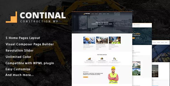 Continal v1.4 — Construction & Business WordPress Theme