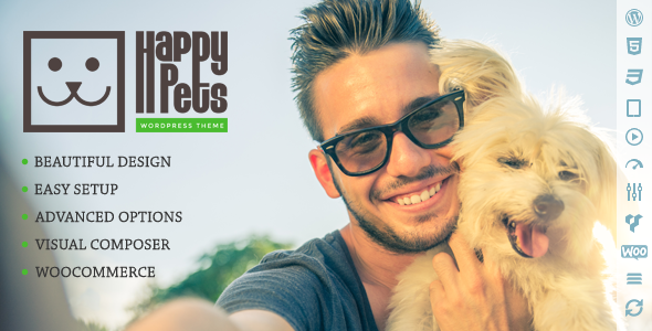 Happy Pets v1.6.1 — A Pet Shop/Services WordPress Theme
