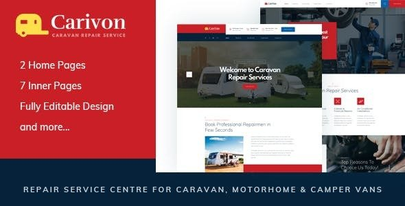 Carivon — Repair Service Centre for Caravan & Motorhome HTML Template