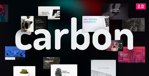 Carbon v2.5 — Clean Minimal Multipurpose Theme
