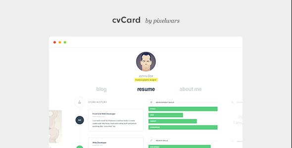 cvCard WP v1.4.0 — Responsive vCard WordPress Theme