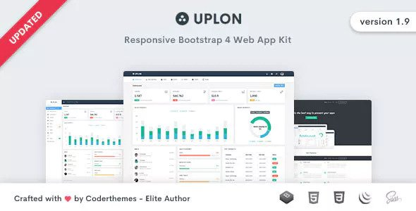 Uplon v1.9 — Responsive Bootstrap 4 Web App Kit