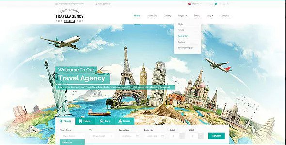 Travel Agency — Bootstrap Template