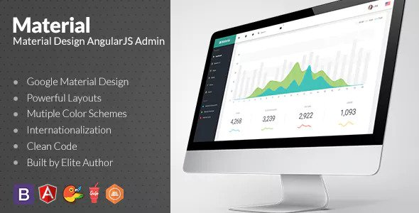 Material v1.5.0 — Design Admin with AngularJS