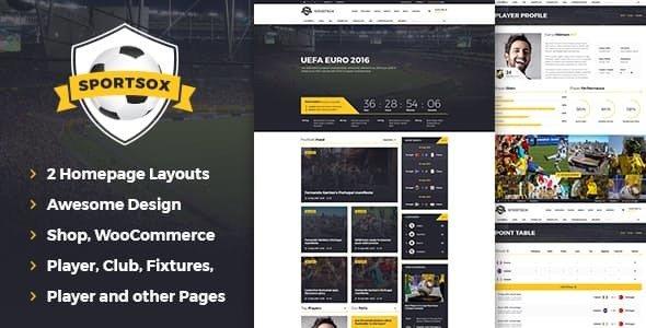Sportsox v1.0 — Sport Team Clubs HTML Template