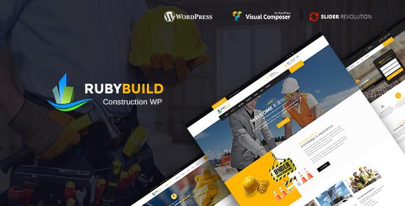 RubyBuild v1.5 — Building & Construction WordPress Theme