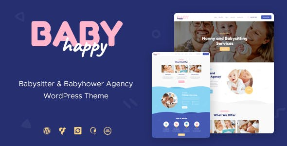 Happy Baby v1.2 — Nanny & Babysitting Services WordPress Theme