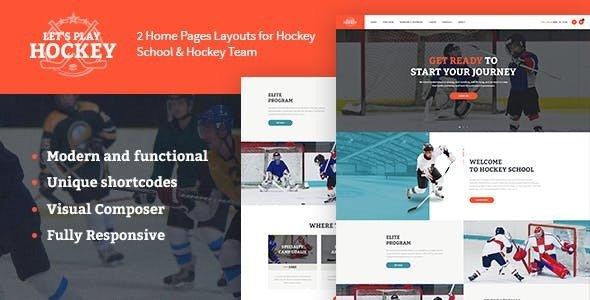 Let's Play v1.1.2 — Hockey School & Sport WordPress Theme