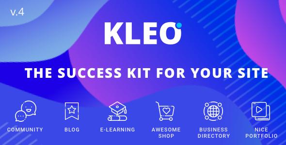 KLEO v4.4.8 – Next level WordPress Theme