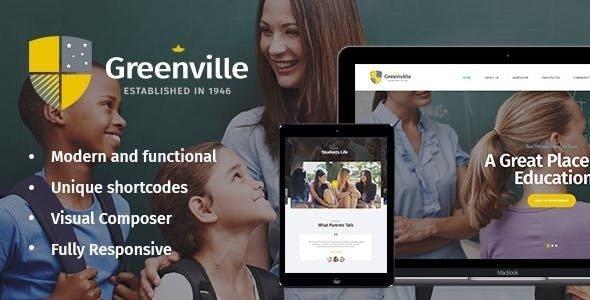Greenville v1.3.0 — A Private School WordPress Theme