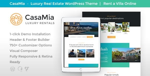 CasaMia v1.1.1 — Property Rental WordPress Theme