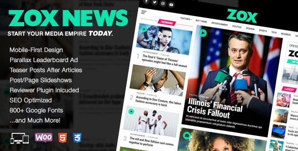 Zox News v3.1.1 — Professional WordPress News