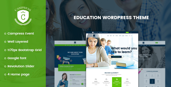 Campress v1.5 — Responsive Education, Courses and Events