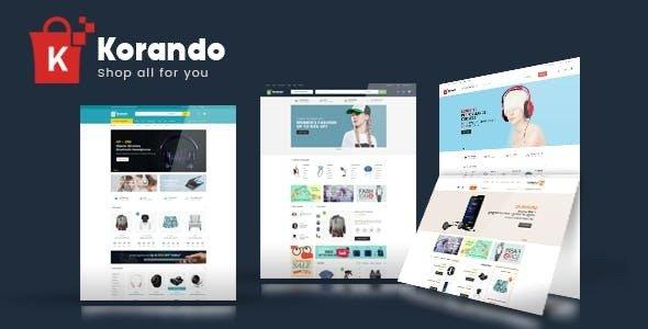 Korando v1.1.3 — Multipurpose Theme for WooCommerce WordPres