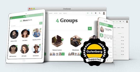 OneSocial v1.4.7 — Responsive WordPress/BuddyPress Theme