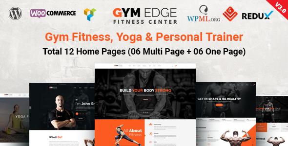 Gym Edge v3.4 — Gym Fitness WordPress Theme