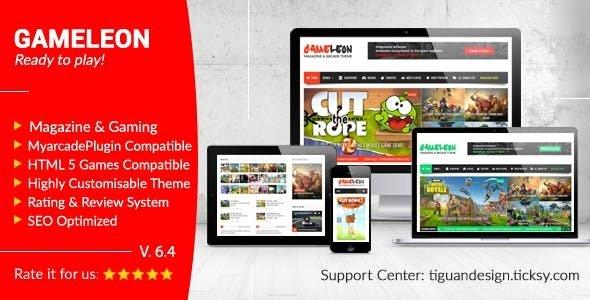 Gameleon v6.4 — WordPress Magazine & Arcade Theme