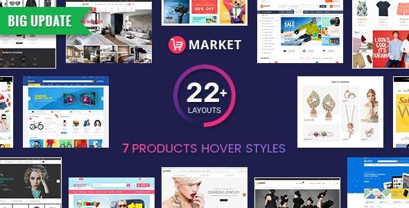 Market v5.0.2 — Premium Responsive Magento 2 and 1.9 Store Theme