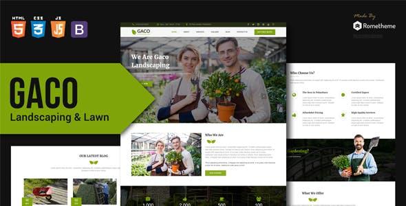 Gaco v1.0 — Landscaping & Gardening HTML Template
