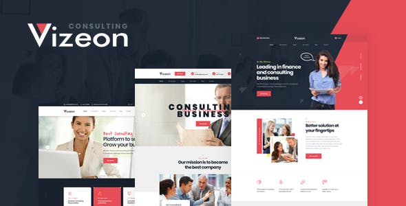 Vizeon — Business Consulting PSD Template