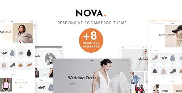 Nova Prestashop 1.7.5.x Theme for Fashion, Clothing, Bags