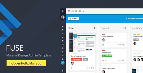Fuse v7.0.1 — Angular 7+ & Bootstrap 4 jQuery HTML Material Design Admin Template