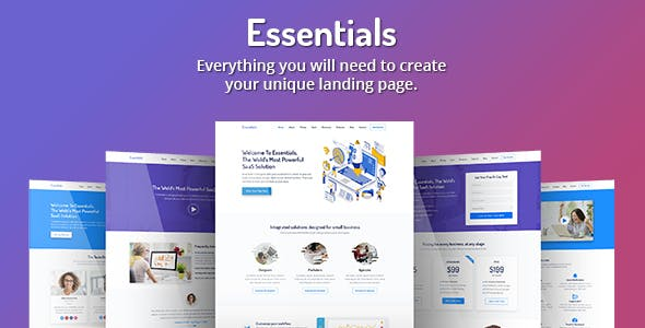 Essentials — High Converting SaaS Landing Page Template