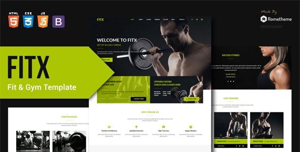 FitX v1.0 — Fitness & Gym HTML Template
