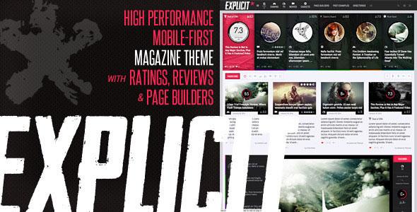 Explicit v2.6 — High Performance Review/Magazine Theme