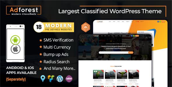 AdForest v4.0.1 — Classified Ads WordPress Theme