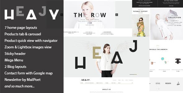 Heajy v1.3.2 — Handmade Fashion WordPress Theme