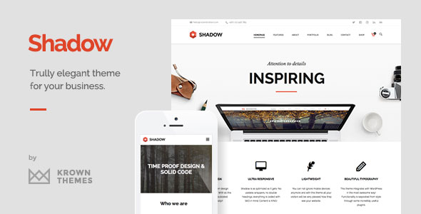 Shadow v1.7.0 — Responsive & Retina Multi-Purpose Theme