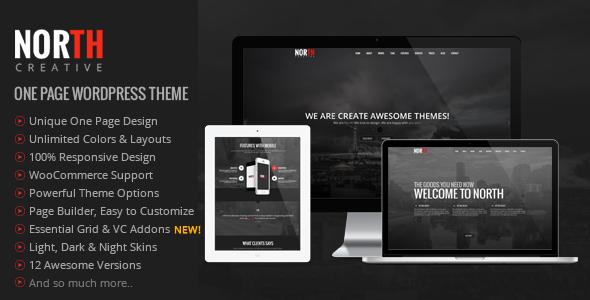 North v4.0.7 — One Page Parallax WordPress Theme