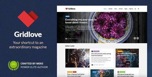 Gridlove v1.8.0 — Creative Grid Style News & Magazine
