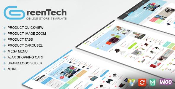 GreenTech v1.4 — Shopping Responsive WooCommerce Theme