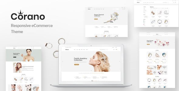 Corano v1.0 — Jewellery OpenCart Theme (Page Builder Layouts)