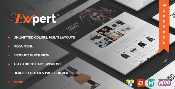 Expert v1.2 — Clean eCommerce WordPress Theme
