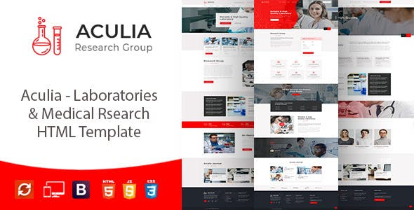 Aculia — Laboratory & Research HTML Template