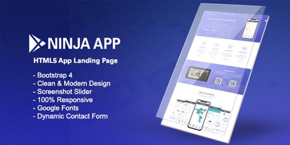 Ninja App — App Landing Page HTML