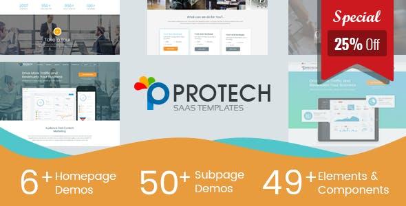 Protech SaaS — SaaS, Software & WebApp Template
