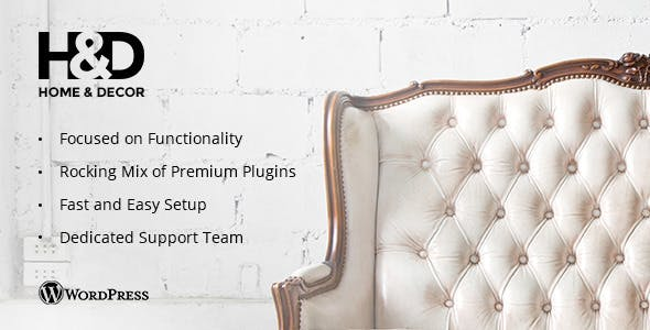 H&D v1.2.4 — Interior Design WordPress Theme