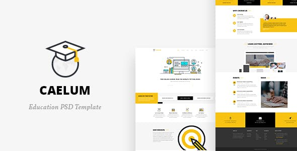 Caelum v1.0 — Education PSD Template
