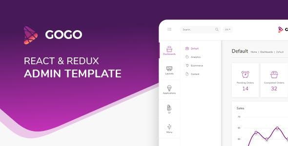 Gogo React v3.0.1 — React Admin Template