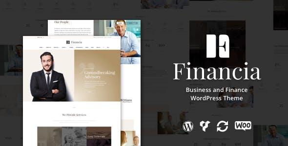 Financia v1.0.3 — Business and Finance WordPress Theme