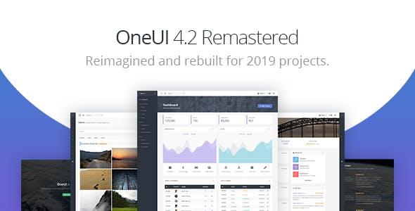 OneUI v4.2.0 — Bootstrap 4 Admin Dashboard Template & Laravel Starter Kit