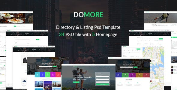 DoMore — Directory & Listing PSD Template