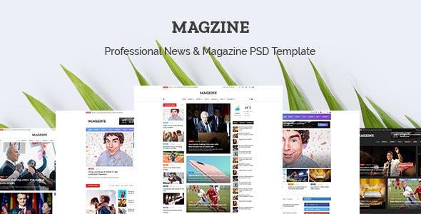 MAGZINE v1.0 — News Magazine Newspaper PSD Templates